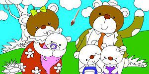 Hra - Bear Family Coloring