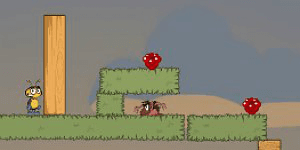 Hra - Red Bugs Puzzle