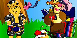 Hra - Medvídek Pů oblíkačka