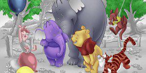 Hra - Medvídek Pů omalovánka