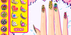 Hra - Leopard Grain Nails Fashion Diy