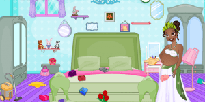 Hra - Pregnant Tiana Messy Room
