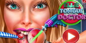 Hra - Ellie Tongue Doctor