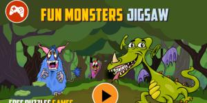 Hra - Fun Monsters Jigsaw