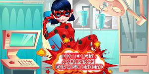 Dotted Girl Ambulance For Superhero