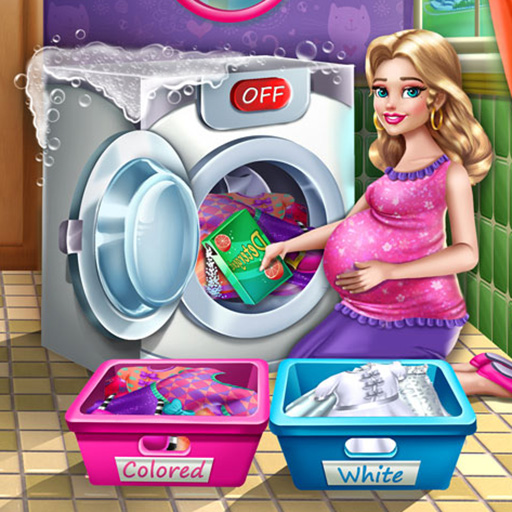 Hra - Mommy Washing Clothes