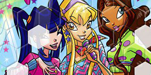Hra - Winx Club Hexagon Puzzle