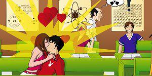 Hra - Bozkávanie v škole