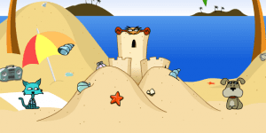 Hra - Cat vs Dog at the Beach