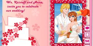 Hra - Princess Anna Wedding Invitation
