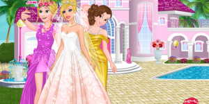 Hra - Barbie's Wedding Selfie with Princesses