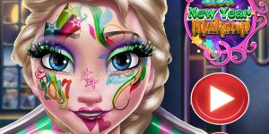Hra - Elsa New Year Makeup