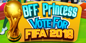 Hra - BFF Princess Vote For Fifa 2018