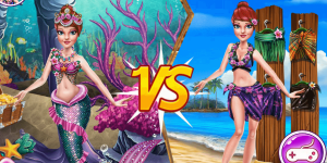 Hra - Princess vs Mermaid Outfit