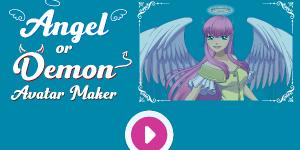 Angel or Demon Avatar Dress Up Game