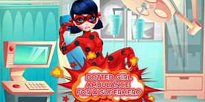 Dotted Girl Ambulance For Superhero