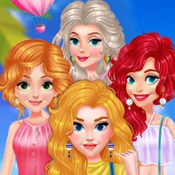 Hra - Princess Girls Air Balloon Trip
