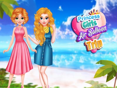 Hra - Princess Girls Air Balloon Trip