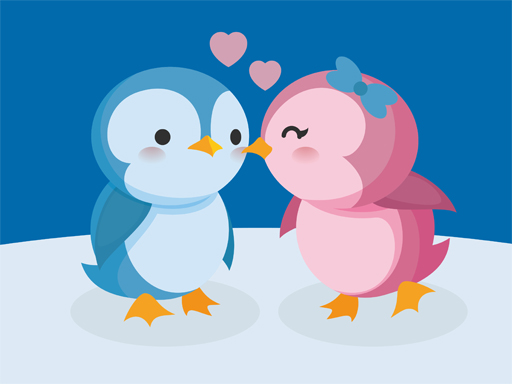 Hra - Cute Penguin Puzzle